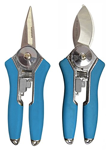 Radius Garden 2-Piece Pruning Tool Set - Includes Floral Shear and Mini Bypass Pruner, Blue by Radius Garden