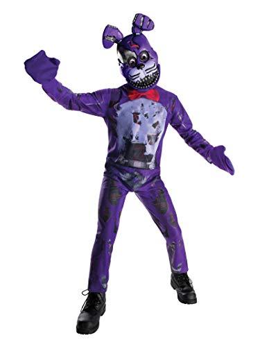 Fnaf Bonnie Halloween Costume (Rubie's Costume Boys Five Nights at Freddy's Nightmare Bonnie The Rabbit Costume, Large,)