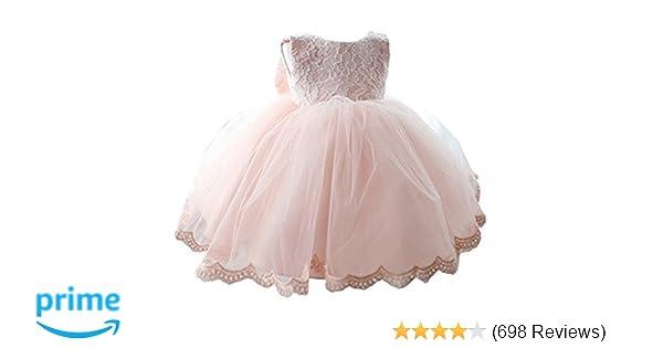 c5e3df1206f5 Amazon.com  NNJXD Girls  Tulle Flower Princess Wedding Dress for ...