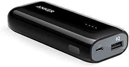 Anker Astro E1 5200mAh Candy bar-Sized Ultra Compact Portable Charger (External Battery Power Bank) with High-Speed Charging PowerIQ Technology (Black)