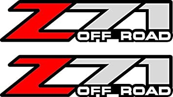 2X CHEVY SILVERADO Z71 OFF ROAD 4x4 DECALS F STICKERS PARTS GMC SIERRA USA