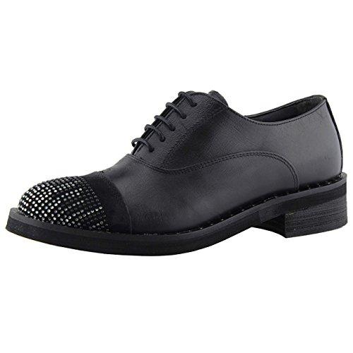 TFA C502 avec Brillants Nabuk Cordes Basses à Lacets 40 Scarpe Chaussures et avec Point Femme Pour Femme 440gdrqn