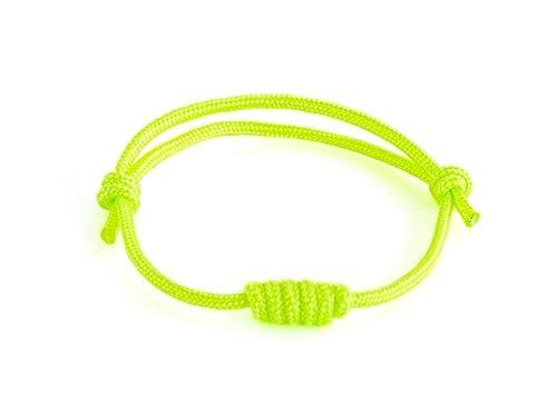 Neon Yellow Bracelet Mens Waterproof Bracelet Mens Cord Bracelet Beach Jewelry Mens Yellow Cord Bracelet