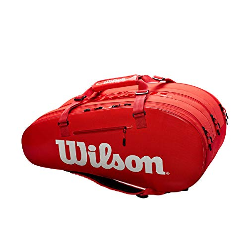 (Wilson Super Tour 3 Compartment - Red/White)