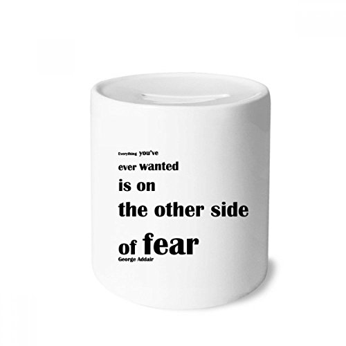 DIYthinker Inspirational Quote About Fear By George Addair Money Box Saving Banks Ceramic Coin Case Kids Adults