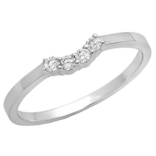 White Gold Contour Engagement Ring - 9