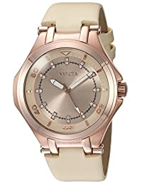 Invicta Women's 'Wildflower' Quartz Stainless Steel Casual Watch, Color: Beige (Model: 21761)