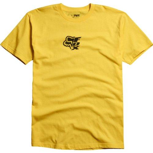 Fox Racing Vertically Mens Short-Sleeve Casual Wear T-Shirt/Tee - Yellow (Fox Racing Casual Wear)