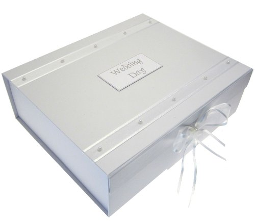 Cotton Keepsake (White Cotton Cards Wedding Keepsake Box, A4 Size, Large, Pearls)