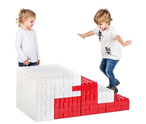 Game Movil Game Movil88243 192 Pieces Giant Blocks Steps Up, Multi-Color