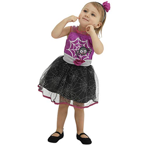 FantastCostumes Halloween Spider Fancy Dress Costumes for Girls -