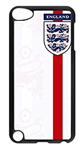 iPod 5 Cases, Hot Sale Personalized England Shirt Badge Protective Hard PC Plastic Black Edge Case Cover for Apple iPod Touch 5 5th Generation