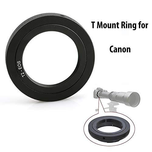 - Lightdow T/T2 Mount Lens Adapter Ring for Canon EOS Rebel T3 T3i T4i T5 T5i T6 T6i T6s T7 T7i SL1 SL2 6D 7D 7D 60D 70D 77D 80D 5D II/III/IV DSLR Camera