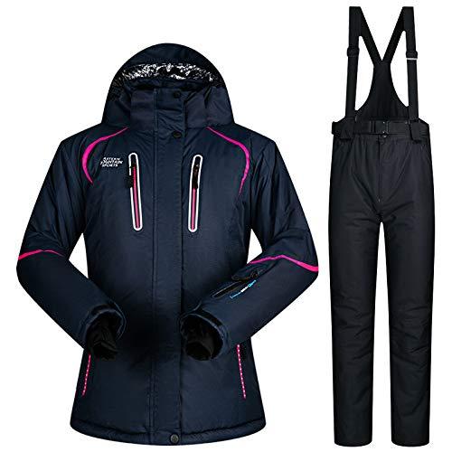 Hiver Snowboarding Jiakenvde vent Chaud Imperméable Et Femmes St01 Black Thermique Suit Ski Costumes Pantalon De Veste Coupe tqqU4A