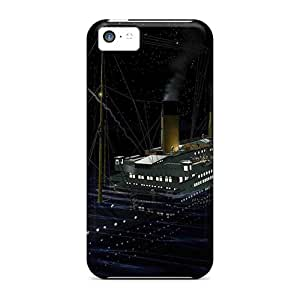 Slim Fit Protector Shock Absorbent Bumper Titanic Flare Cases For Iphone 5c