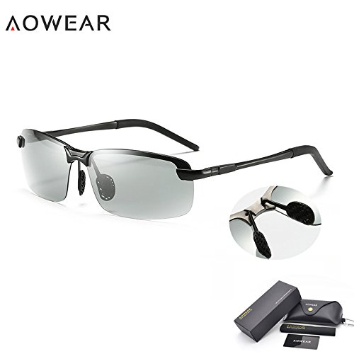 25c011c7b34 BuyWorld AOWEAR Driving Polarized Photochromic Men s Sunglasses  (BWALB0660)  Amazon.in  Clothing   Accessories