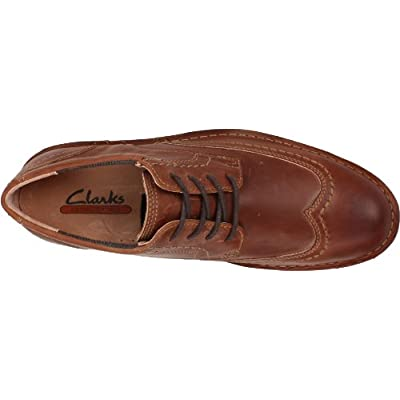 CLARKS Men's Lucerne, Brown Leather, 8 M US | Oxfords