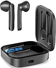 (Sonido mejorado)Audífonos Bluetooth 5.0, BOBITOS Auriculares inalámbricos IPX8 Impermerable , Reduce el Ruido