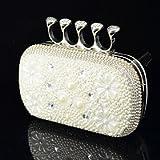 FLOW ZIG Handbag Crystal/ Rhinestone/Metal/Luxurious Satin Evening Handbags With