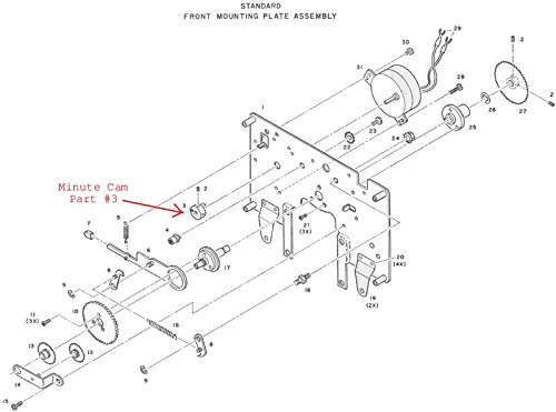 Amazon Com Acroprint 125 150 Repair Kit Includes Motor Minute Cam