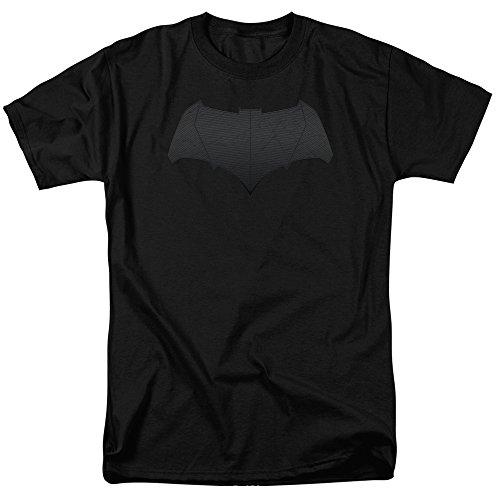 Trevco Men's Batman v Superman Short Sleeve T-Shirt, Batman Logo Black, Large (Logo Batman Superman)