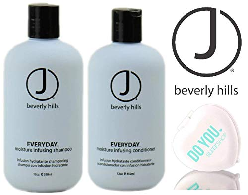 - J Beverly Hills EVERYDAY Moisture Infusing SHAMPOO & CONDITIONER Duo Set (with Sleek Compact Mirror) (12 oz / 350 ml DUO KIT)