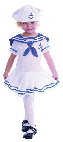 [Sailor Girl Toddler Childs Fancy Dress Costume - T 104cms] (2 Year Old Costumes Uk)