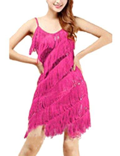 Latino Borla Bailes Funcionamiento Rose Correa Danza Vestidos Latina Mujer Lentejuela 8U5wqn4E