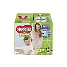 HUGGIES LITTLE MOVERS Slip-On Baby Diapers, Size 3, 88ct