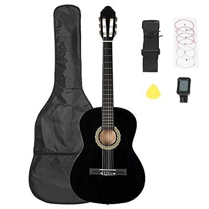 Sanhezhong Guitarra clásica de 38 pulgadas con bolsa, tablero ...