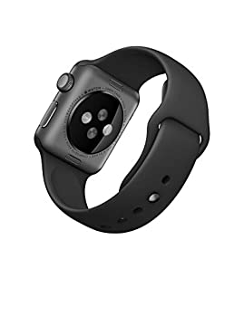 Apple Watch Series 1 38mm Space Gray Aluminum With Black Sport Band 2
