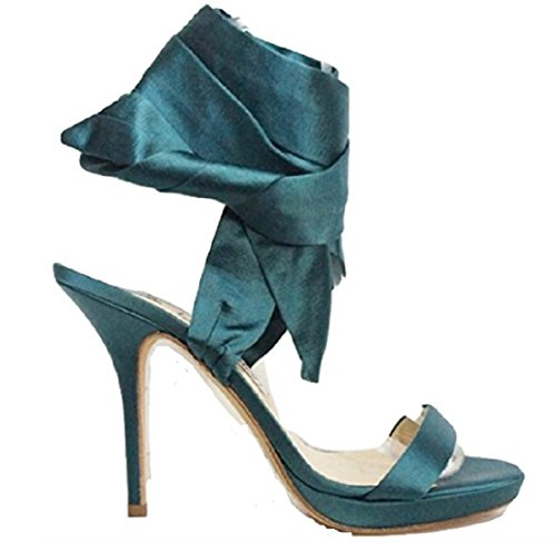 Col Verde 41 Green Jimmy Uk Teal 5 Choo Tacco Donna Scarpe 7 Green Izg0Swqg