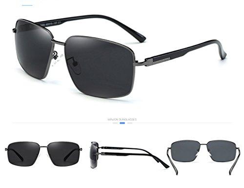 Eye Color Black de Male Gun Hommes Polarizer de Couleur Frame soleil Lunettes frame Driver Mirror soleil Lunettes Lunettes aq1Pq