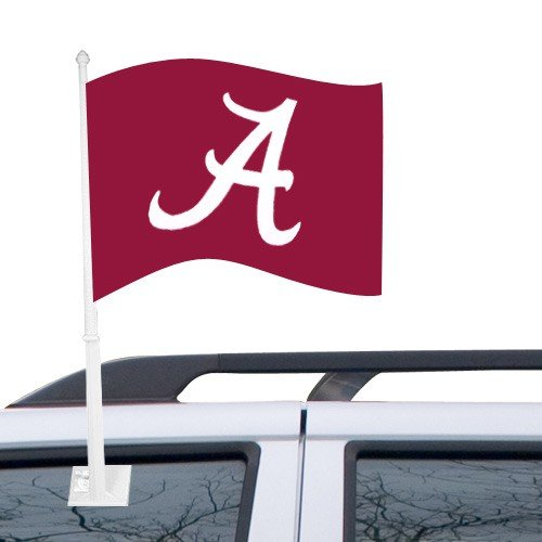 NCAA Alabama Crimson Tide Crimson Car Flag -