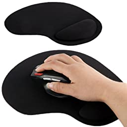 Ultra Slim Cloth Wrist Rest Mouse Pad (Black) by Tangibler
