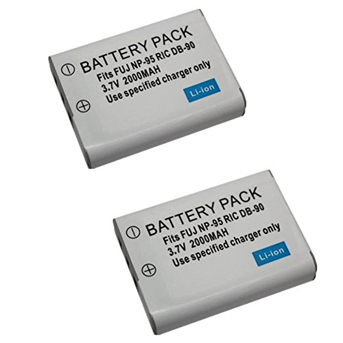 2 pcs 2000 mAh NP-95 NP95 Battery for Fujifilm X30 for sale  Delivered anywhere in USA