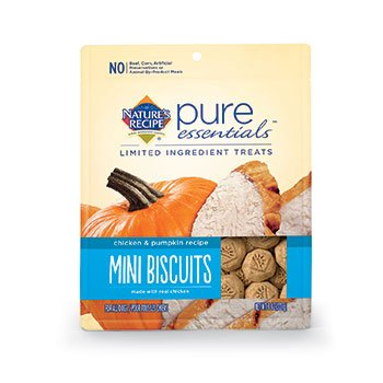 Nature's Recipe Pure Essentials Biscuits - Chicken & Pumpkin - Mini - 8oz
