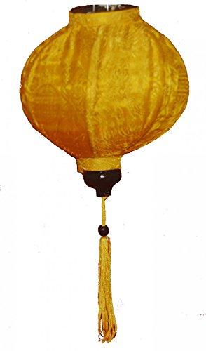VIETNAMESE ORIENTAL SILK & BAMBOO HANDCRAFTED LANTERN LAMP chinese yellow 20