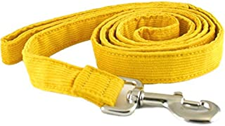 "product image for The Good Dog Company-- Hemp Corduroy SIX FT Dog LEASHES Available in 9 Colors (Rust, Marigold, Bronze, Avocado, Blue, Plum, Pink, Red, Black) Sold in 1"", ¾"", ½"" Widths"