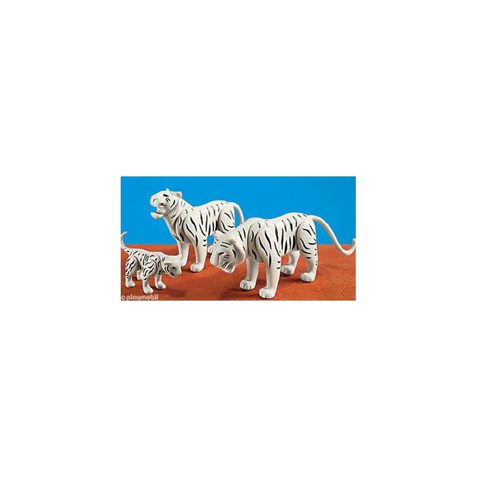 Playmobil Set of 3 White Tigers