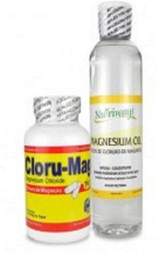 Magnesium Chloride Bundle of 2 Items: Cloru-Mag Plus & Concentrated Oil 8 Oz. Combo de 2 productos: Cloru-Mag Plus y Aceite de Cloruro de Magnesio. by Nutriways