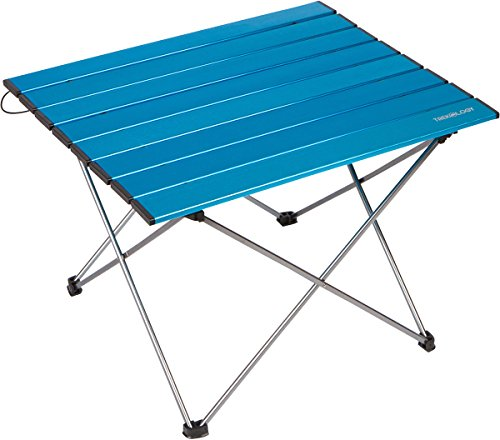 Trekology Portable Camping Side Tables with Aluminum Table Top: Hard-Topped Folding Table in a Bag for Picnic, Camp, Beach, Boat, Useful for Dining & Cooking with Burner, Easy to Clean
