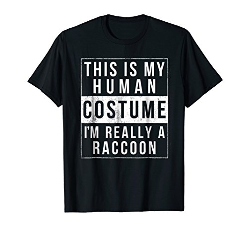 Raccoon Halloween Costume Shirt Funny Easy for kids adults -