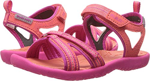 M.A.P. Lorna Girl's Outdoor Sandal, Coral/Pink, 1 M US Little (Metal Kids Sandals)