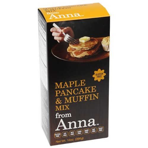 - Maple Pancake and Muffin Mix, from Anna, Gluten yeast soy rice corn dairy and nut free, 14 oz