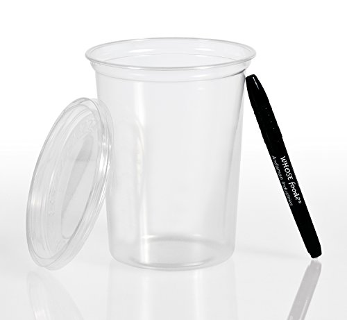 Solo 32oz Deli Container & Lid (50ct) - Grocery Store Style Cups for To-Go Lunch, Food Storage, Take-Out - Bundled with WhoseFood?® Pen - Perfect from Refrigerator directly to the Microwave (Deli Containers 32 Oz compare prices)
