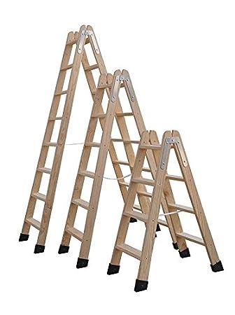 Escaleras De Madera Tijera Homologadas Varias Medidas (5 Peldaños)