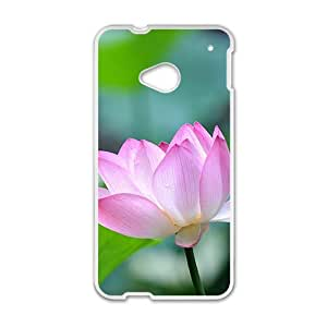 Glam Pink lotus elegant personalized creative custom protective phone case for HTC M7 by ruishernameMaris's Diary