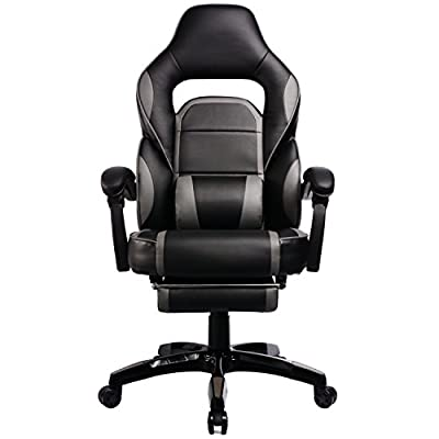 GTracing High Back Ergonomic Gaming Chair Racing Chair Napping Computer Office Chair with Padded Footrest by GTRACING
