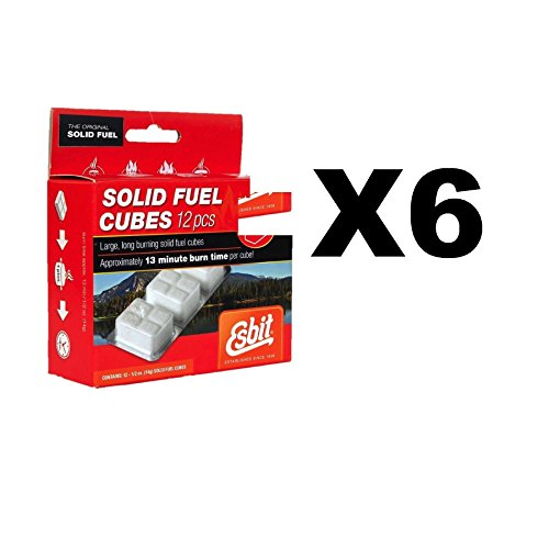 Esbit Solid Fuel Replacement Cubes Emergency Fire Starter Camping (6-Pack of 12) by Esbit